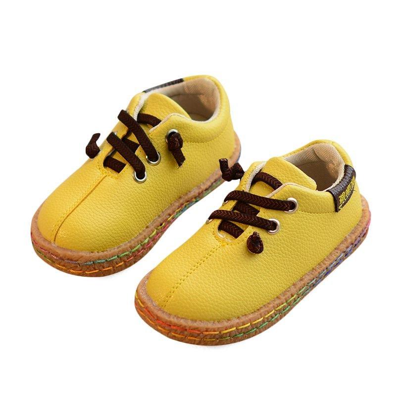 Unisex Kids Colorful Stitching Soft Sole Comfy Flat Shoes