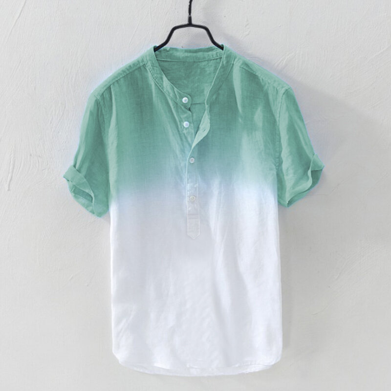 9b901f14 TWO-SIDED Mens Gradient Color Summer Short Sleeve Cotton Breathable Casual T -shirt Best Online - NewChic