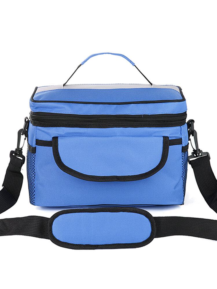 Multi-functional Oxford Cloth Messenger Insulated Bag Outdoor Ice Bag Picnic Bag Shopping Bag