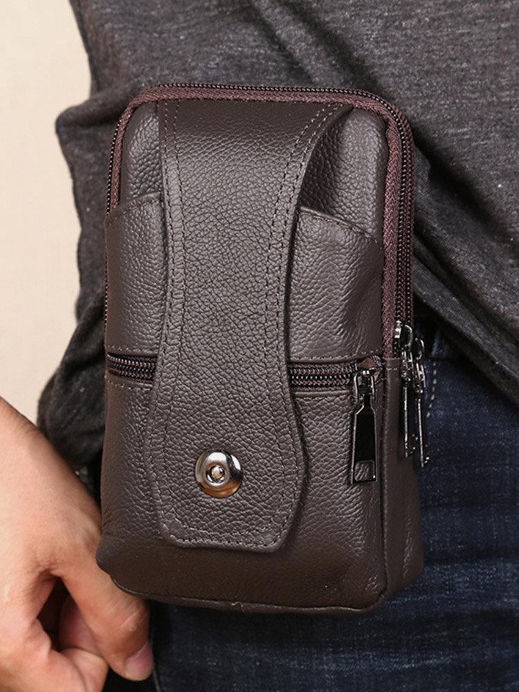 Durable Flap Magnetic Button Design Wearable Breathable Tasteless Belt Bag 6.5 Inch Phone Bag Wallet