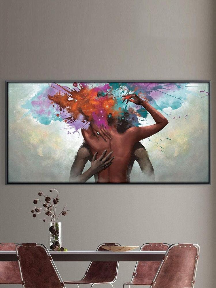 Art abstrait peinture sur toile sans cadre Art mural toile salon décor à la maison