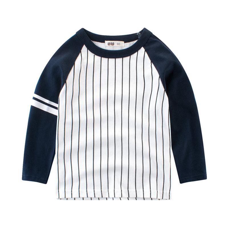 T-shirts rayés à manches longues pour garçons, hauts pour enfants de 2Y-11Y