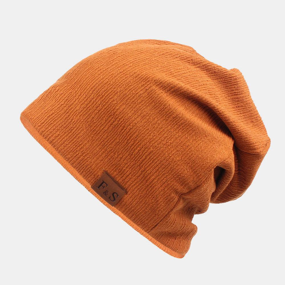 Unisexe épaissi hiver garder au chaud bonnet de laine sans bord couleur unie bonnet bonnet bonnet - Newchic - Modalova