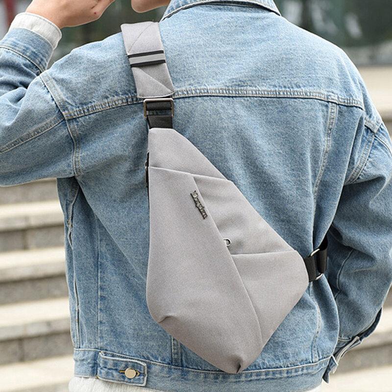 Men Anti-theft Water Resistant Outdoor Travel Sling Bag Chest Bag Crossbody Bag