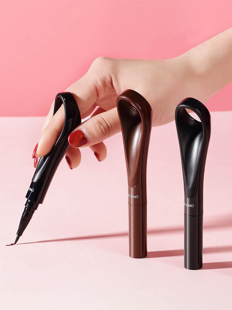 Lazy Ring Eyeliner Liquid Pen Quick-Drying Waterproof Sweat-Proof Not Blooming Eyeliner Eye Makeup