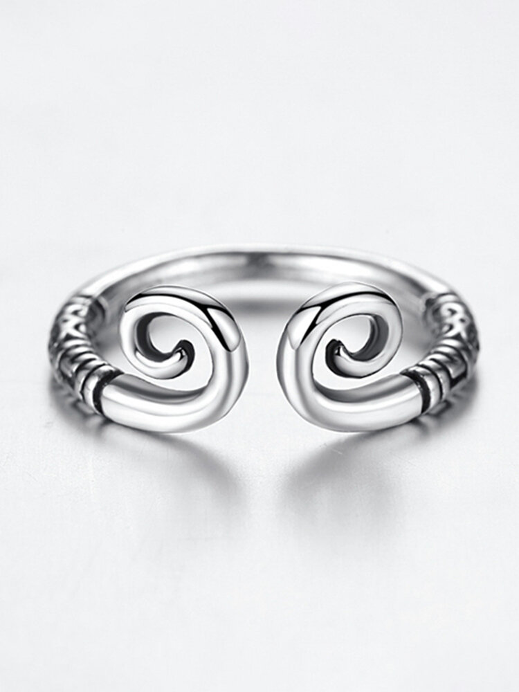 Golden Hoop Monkey King Antique Silver Adjustable Matching Rings for Couples