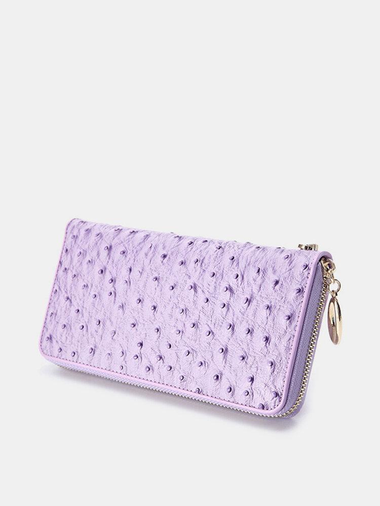 Women Genuine Leather Elegant Wallet Clutches Bag Wristlet Wallet