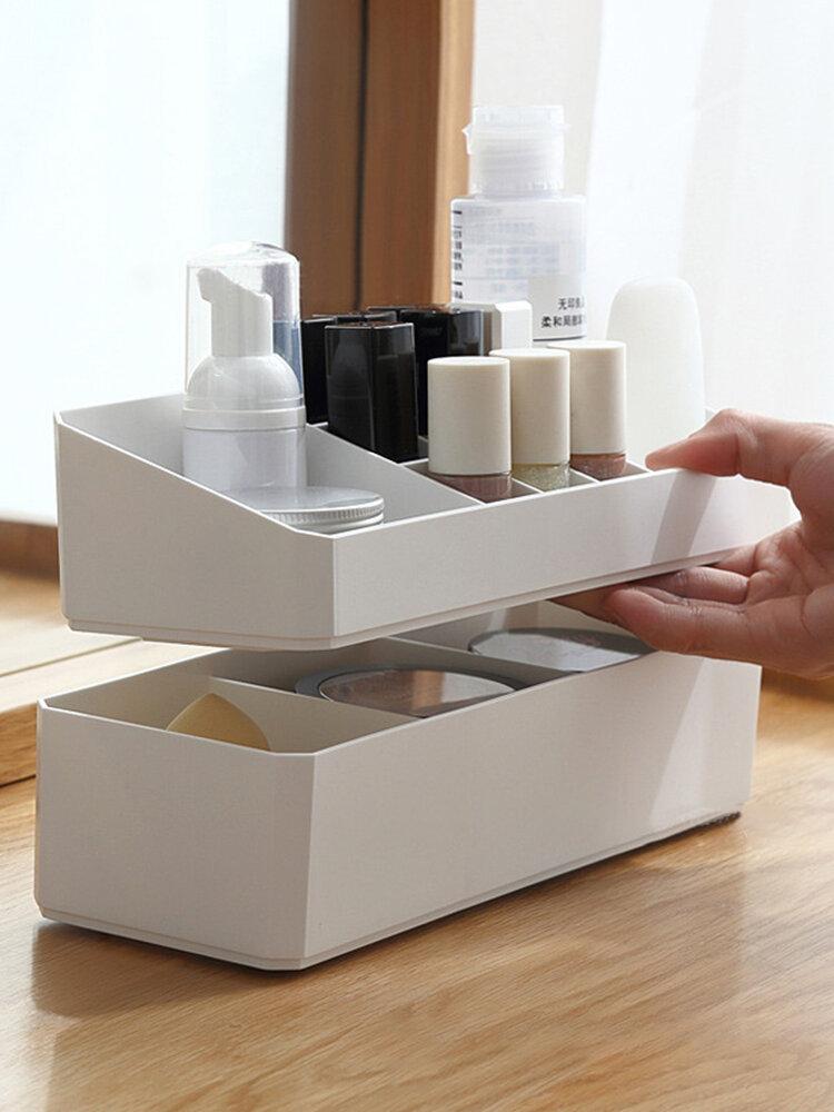 Double-layer Bedroom Desktop Storage Box Cosmetic Finishing Box