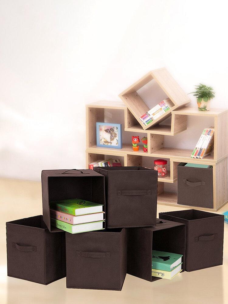 Foldable Book Underwear Bra Socks Ties Storage Box Cube Basket Bins Organizer Clothes Dr
