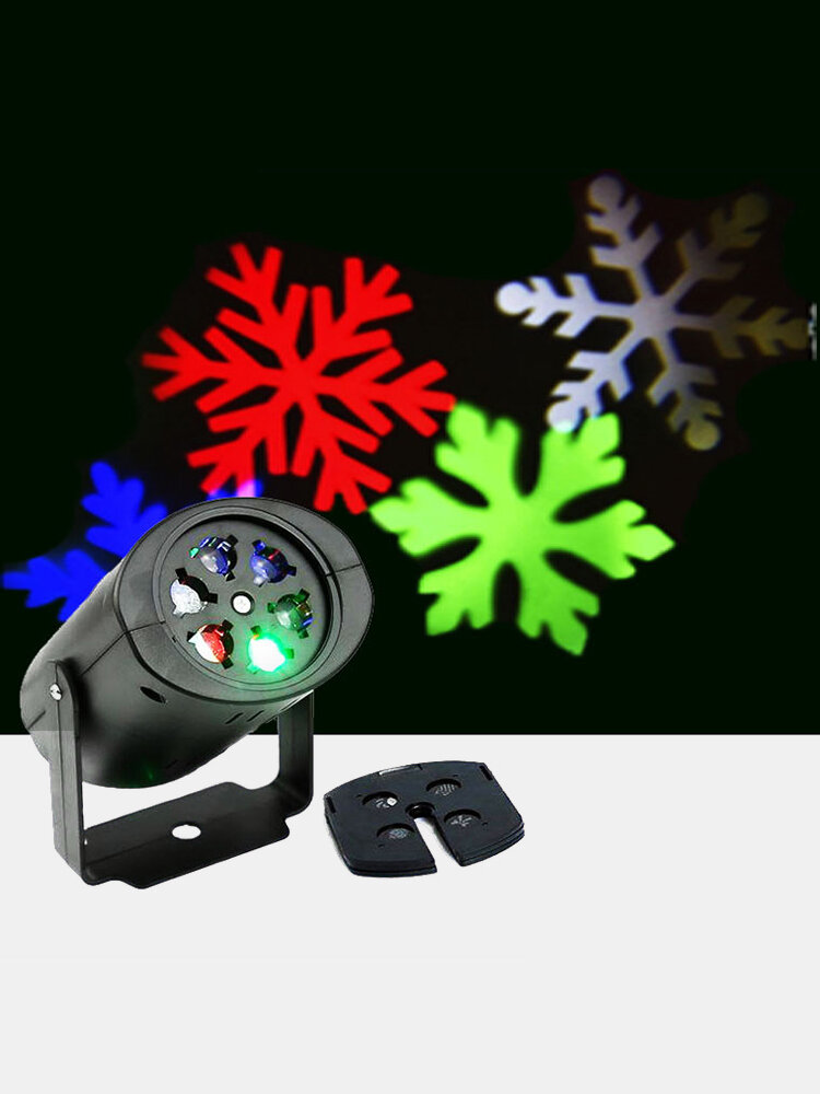 Christmas Snowflake Projector Lights Rotating LED Stage Light Outdoor Waterproof Landscape Light Party Decor