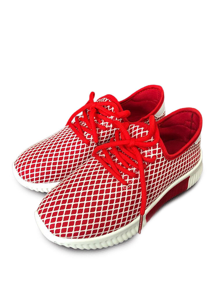 Women's Large Size Breathable Mesh Portable Casual Brief Sports Shoes