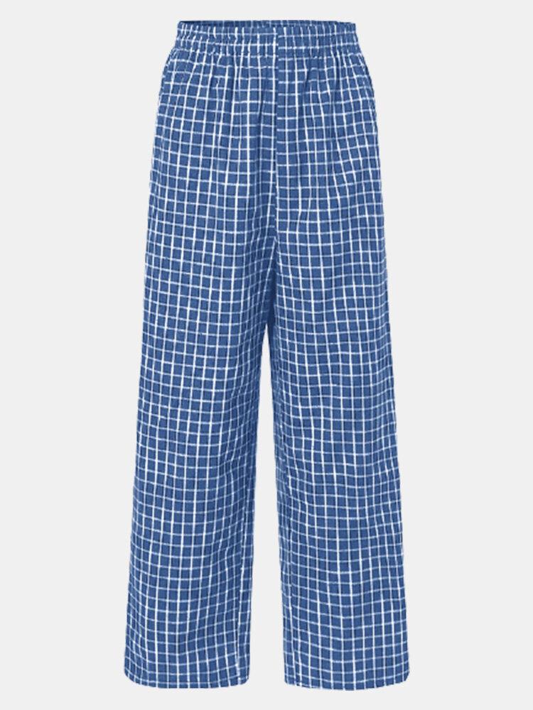 Pliad Print Elastic Waist Loose Plus Size Pants