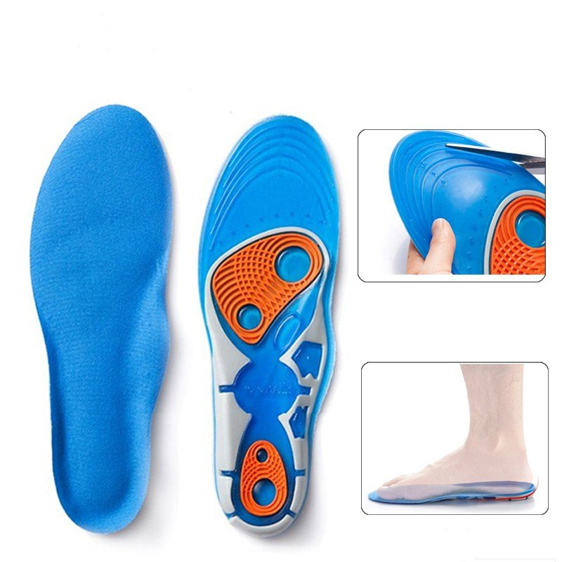 Silicon Gel Shock Absorption Insole Foot Care for Plantar Heel Spur Running Sport Insoles Pads