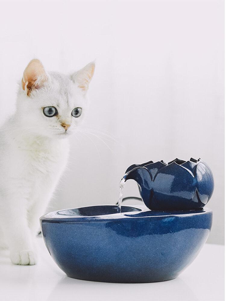 Distributeur d'eau pour chat fournitures pour chien de compagnie fontaine d'eau courante eau courante chat alimentation eau eau potable artefact Circulation automatique