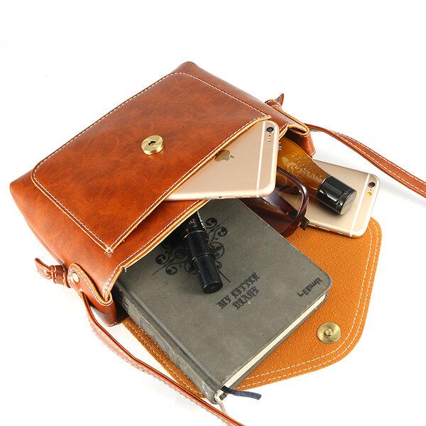Women Men Oil Leather Pu Crossbody Bag Envelope Bag Messenger Bag