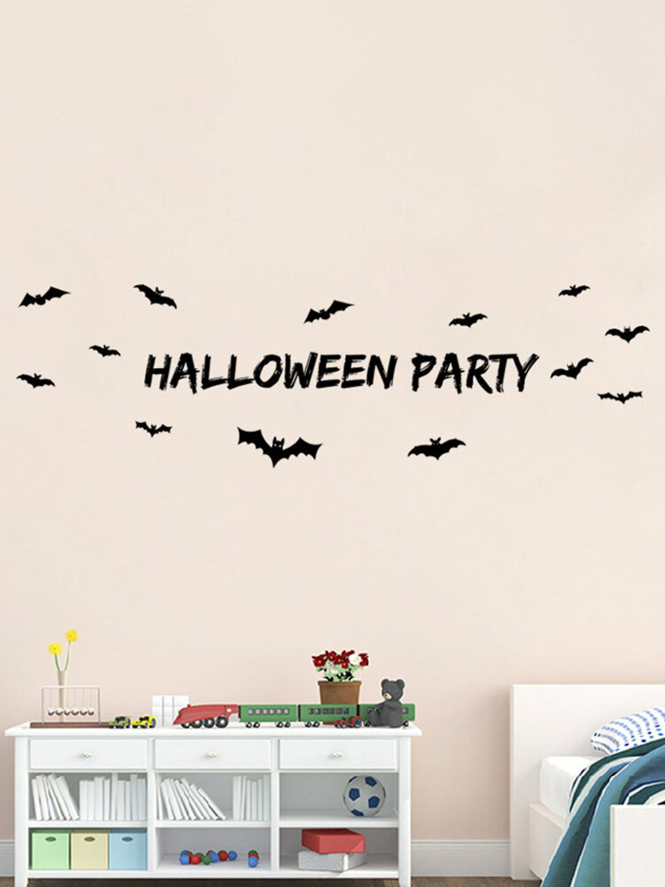 Miico Halloween Party Sticker Removable Wall Sticker Halloween Room Decorations