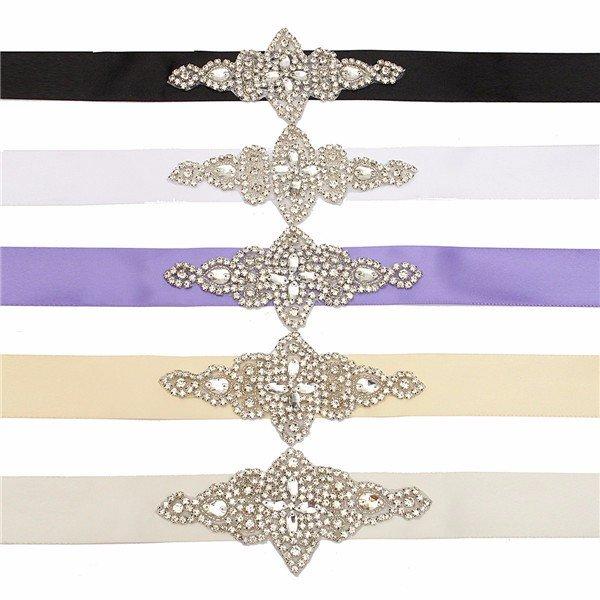 Women Diamond Bridal Dress Wedding Belt Thin Waist Girdle