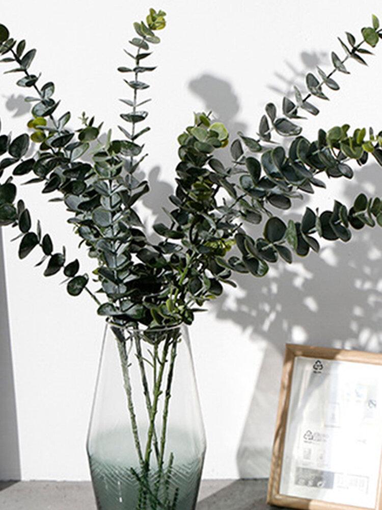 3/5/9フォーク偽植物ユーカリの葉ブーケ家の庭の装飾造花プラスチック植物