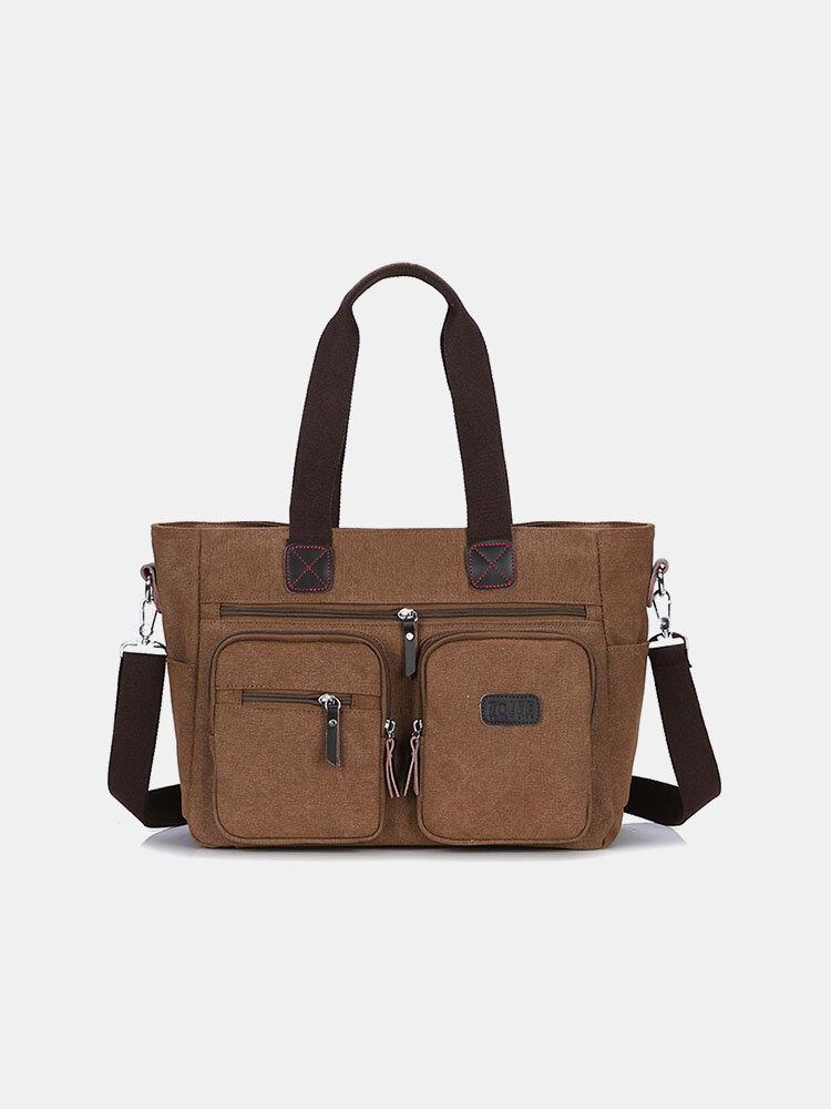 पुरुषों के बिजनेस ब्रीफ़केस लैपटॉप कैनवस बैग सरल फैशन आकस्मिक कंधे बैग टोट बैग