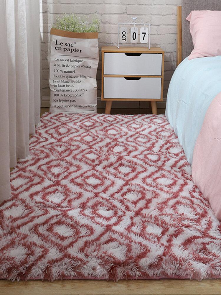Alfombra de felpa de teñido anudado de color degradado, manta de sala de estar, dormitorio, mesa de centro, sala de estudio, sala de reuniones, manta de tatami