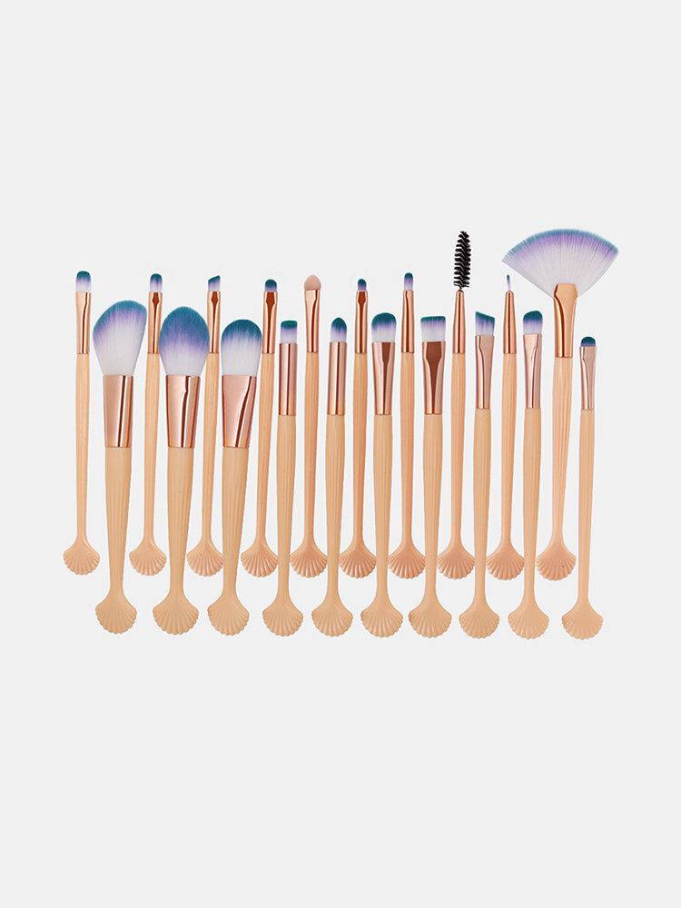 20 Pcs Shell Makeup Brushes Set Concealer Eyeshadow Loose Powder Brush Brush Pack Makeup Tool