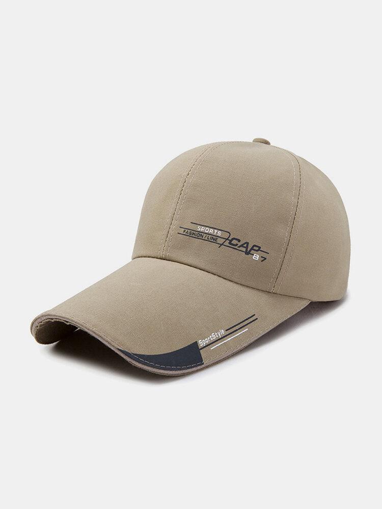 Men Sunscreen Outdoor Fishing Travel Casual Broad Brim Visor Sun Hat Baseball Hat