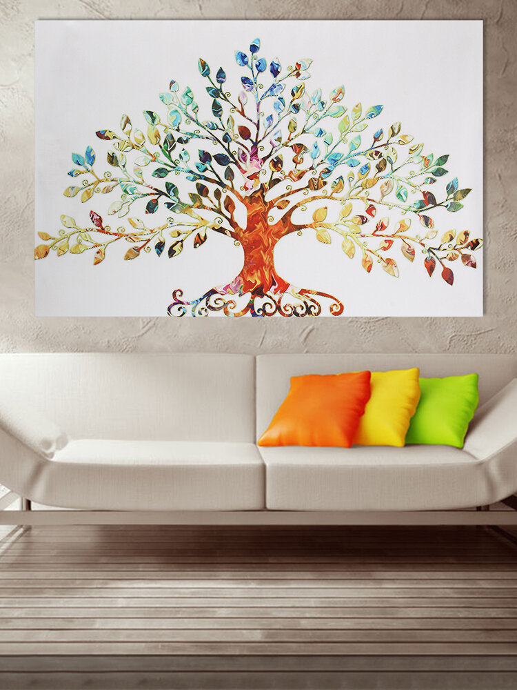 Leafy Tree Scenery Landscape Painting Unframed Canvas Wall Art Living Room Home Decor