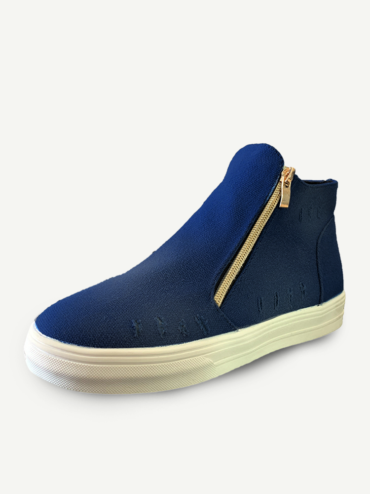 Women Plus Size Canvas Wearable Comfy Flat Casual Ankle Boots