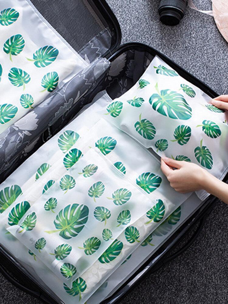 Transparent Travel Storage Bag Waterproof Sealed Bag Clothing Travel Luggage Clothes Packed Storage Sorting Bag