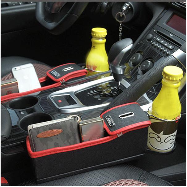 Car Seat Storage Box Gap Storage Bag Garbage Car Multi-Function Leather Water Cup Holder