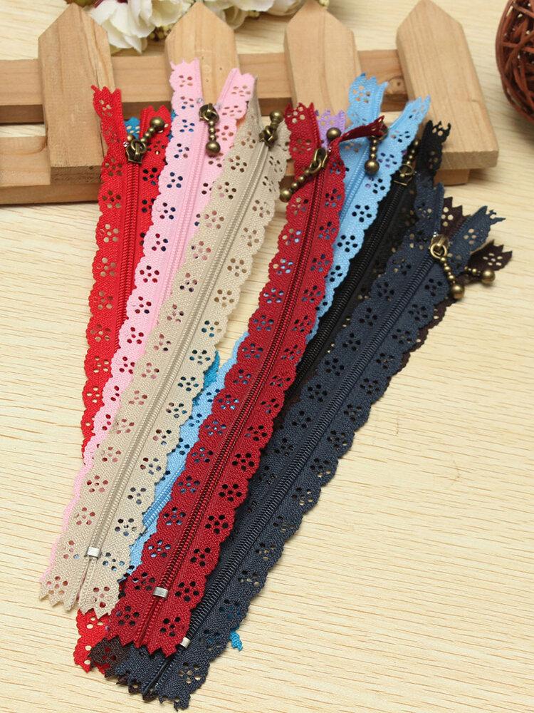 10pcs Nylon Coil Lace Zippers Tailor Craft For Purse Bag Clothes DIY