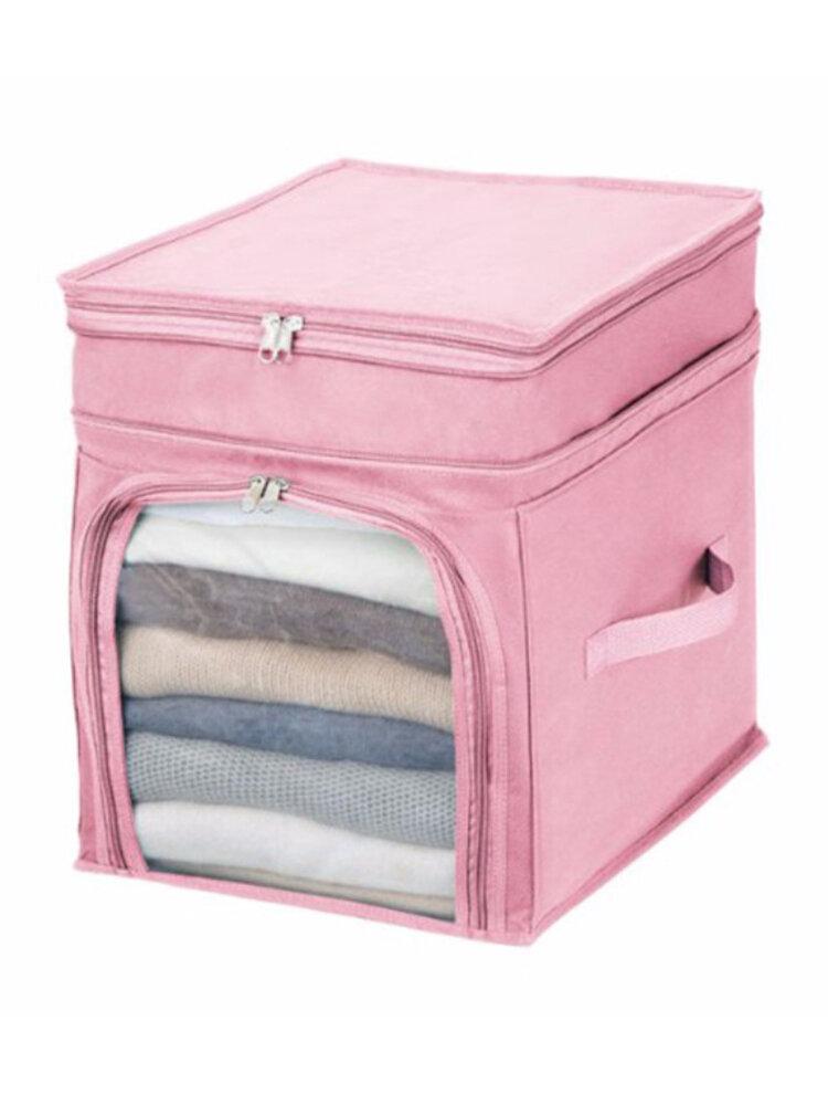 Foldable Storage Bags Clothes Blanket Quilt Closet Sweater Organizer Box Bag
