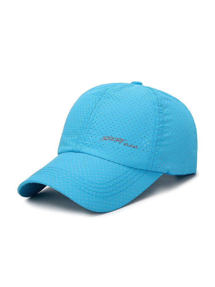 Men Women Summer Solid Color Mesh Breathable Baseball Cap Quick Dry Fabric Outdoor Fashion Sun Cap