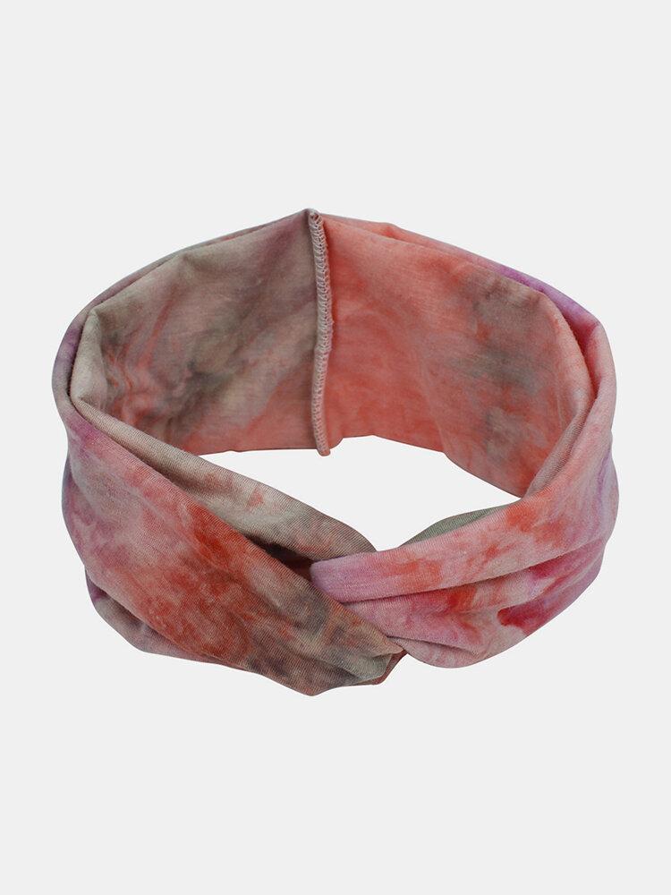 Bohemian Style Elastic Sports Hair Band Tie Dye Bandana Headband