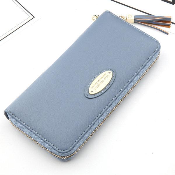 Hot-sale Women Stylish Pure Color Phone bag Long Wallet Card Holder Purse