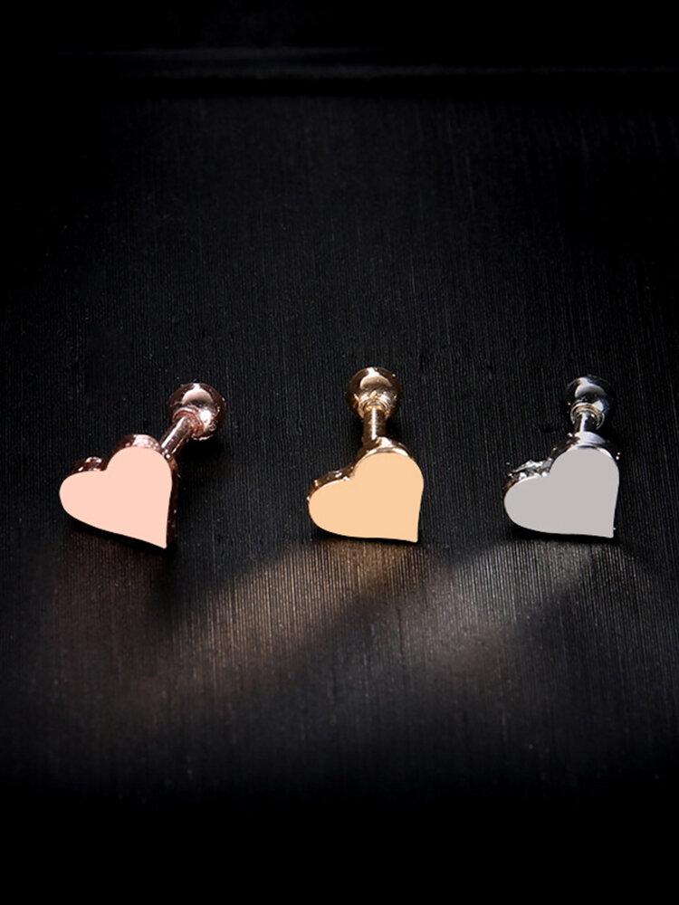 Punk 1 Pc of Earrings Bones Piercing Earrings Heart Shape Earring Gift