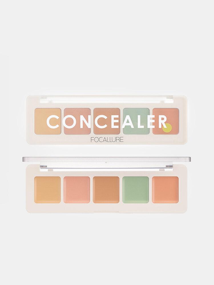 5 Farben Concealer Palette Vertuschung Dunkle Kreise Akne Natürliches feuchtigkeitsspendendes Gesichts-Make-up