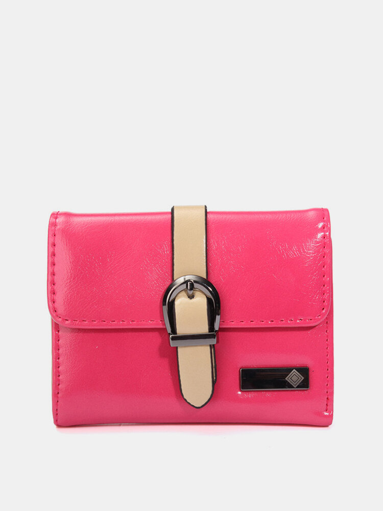 Women Candy Color Joker Soft Leather Wallet