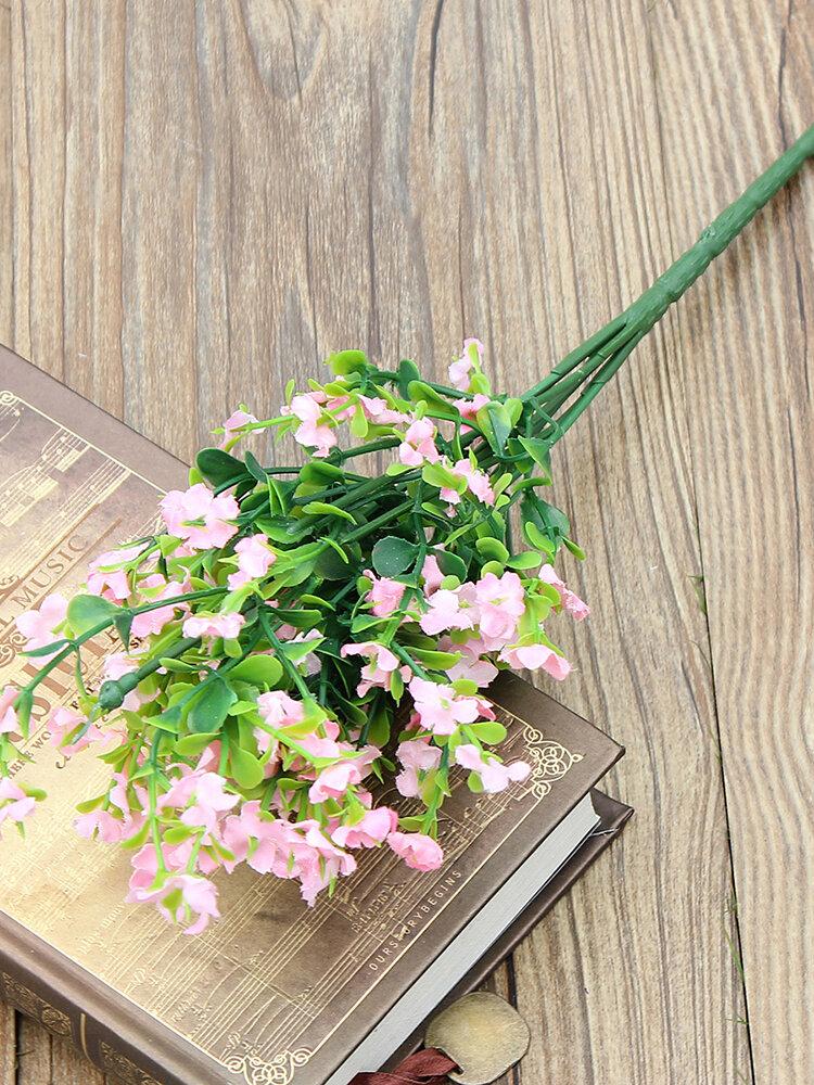 Flores artificiais Gypsophila 1 buquê 6 ramos decoração de casa para festa de casamento