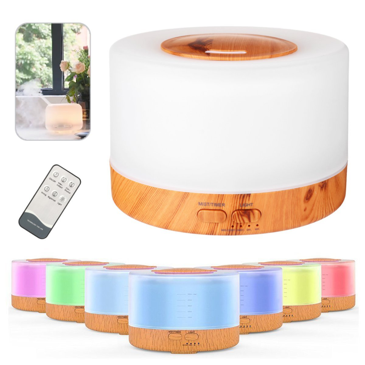 500ml Air Humidifier Essential Oil Diffuser Aroma Lamp Aromatherapy Aroma Diffuser Mist Maker