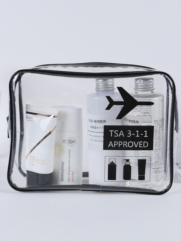 Portable Waterproof Large Capacity Wash Bag Travel Storage Bag Tpu Transparent Travel Cosmetic Storage Bag