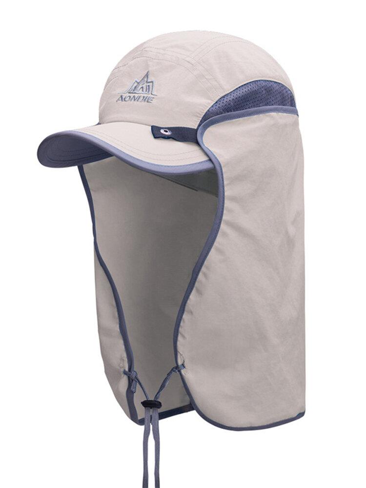 Nylon Detachable Shawl Baseball Cap Outdoor Breathable Sunscreen Windproof Anti-uv Bucket Hat