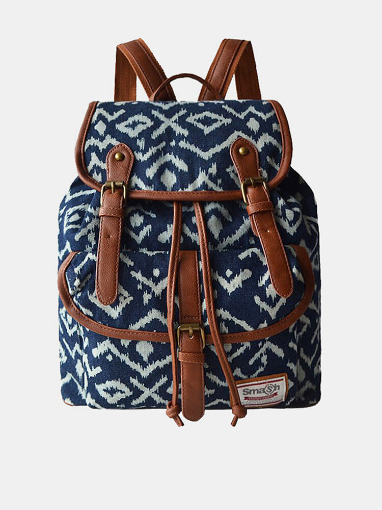 Women Ethnic Printed Floral Travel Backpack