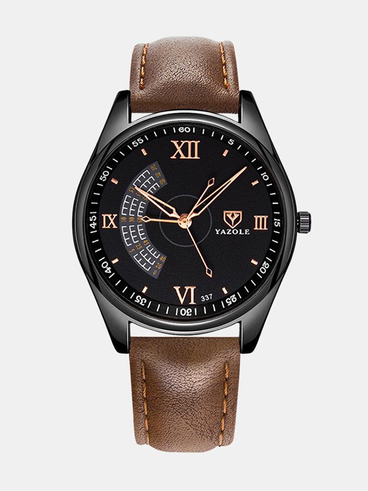 Vintage Men Watch Ultra Thin Leather Band Waterproof Quartz Watch