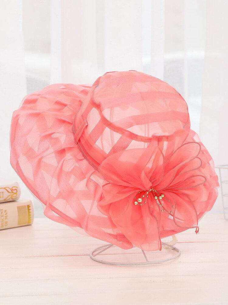 Womens Summer Breathable Anti-UV Fisherman Hat Outdoor Travel Sunscreen Bucket Hat