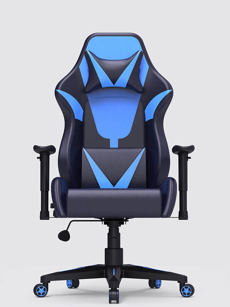 AutoFull Ergonomic Racing Gaming Chair Adjustable Recline Angle PU Leather Folding Chair with Mute Wheel fr