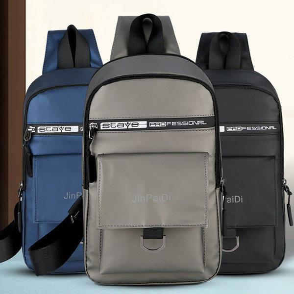 Men Waterproof Oxford Chest Bag mMulti-function Casual Wild Shoulder Bag Messenger Bag is worth buying