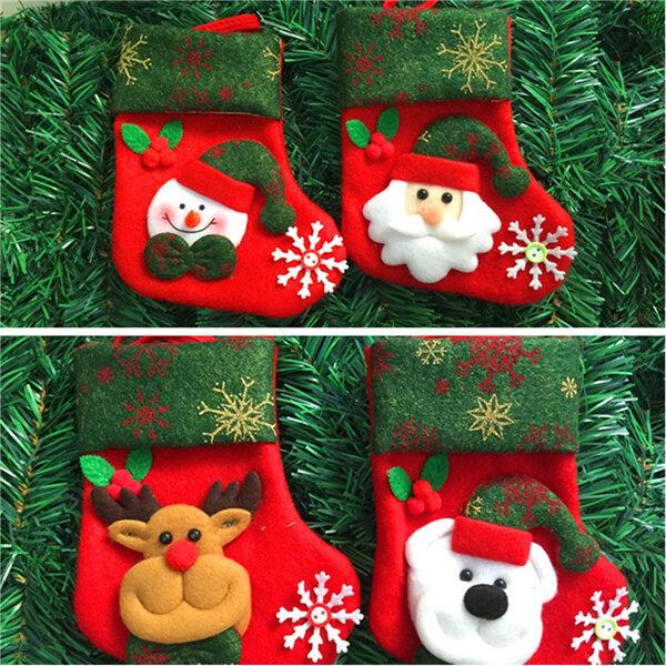 Christmas Decoration Socks Snowman Christmas Gifts Elderly Bear Deer For Christmas Tree