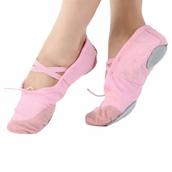 バレエダンス体操靴女の子ソフト女性キャンバスフィットネススリッパ