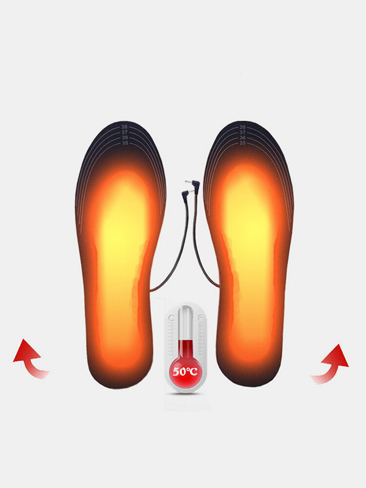 Winter Heating Insole USB Rechargable Electric Heating Foot Washable Tailorable Size Foot Care